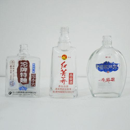 丝印晶白玻璃瓶
