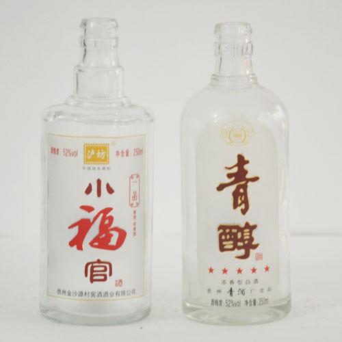 蒙砂玻璃酒瓶