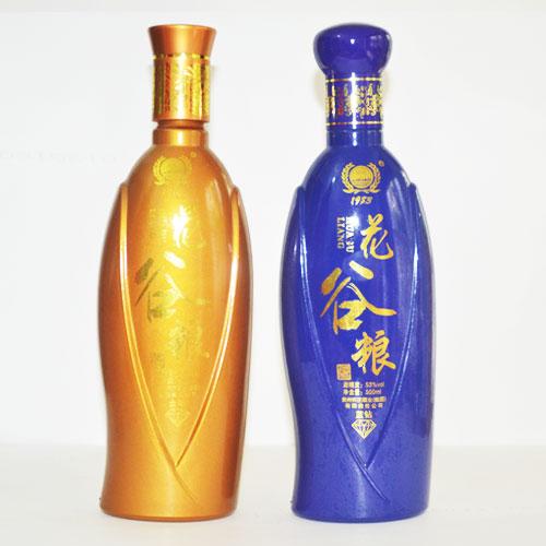 定制喷釉烤花酒瓶