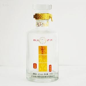 晶白玻璃烤花瓶