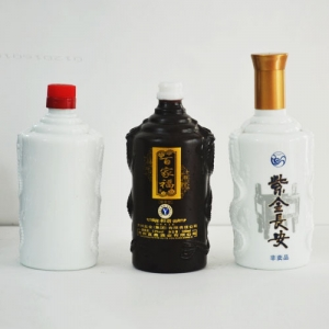 定制乳白玻璃酒瓶